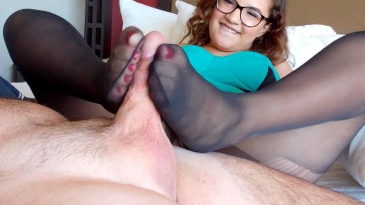 Postříkané Nohy V Silonkách (4)