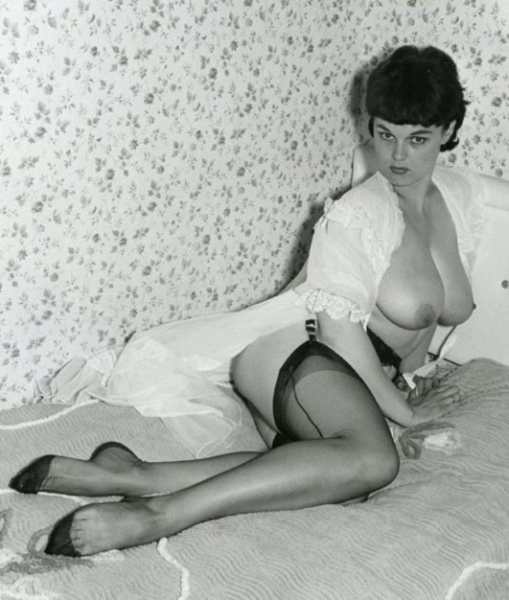 Sexy žena v silonkách, sexy retro fotky